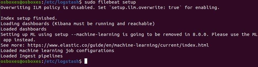 然后初始化filebeat